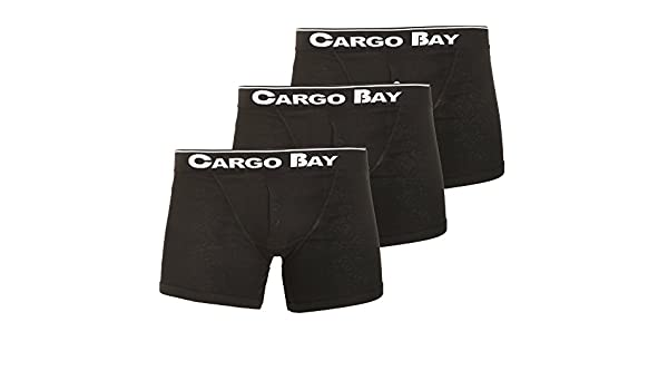 Pack of 3 Cargo Bay Mens Button Fly Boxers