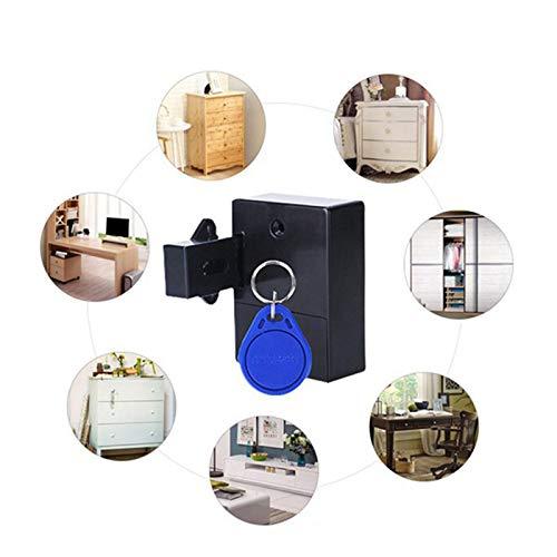 SODIAL 2 Unids Invisible RFID de Apertura Inteligente Sensor Inteligente Gabinete Cerradura Armario Armario Zapatero Gabinete Caj/óN Cerradura de Puerta Cerradura Electr/óNica Oscura