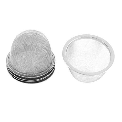 ZCHXD Stainless Steel Mesh Tea Leaves Spice Strainer 80mm Outer Dia 5 Pcs