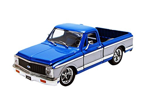 1972 Chevrolet Cheyenne Pickup Truck Blue / Silver 1/24 by Jada 96865