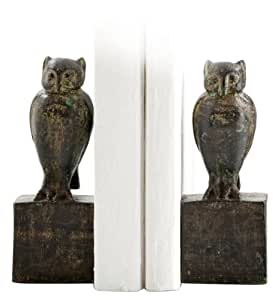 Hedgewick Iron Owl Bookends