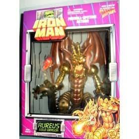 Amazon.com: Iron Man Aureus Gold Dragon Fireball Spitting ...