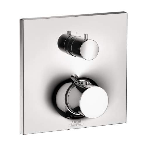 AXOR 18750001 Massaud Thermostatic Trim with Volume Control and Diverter, Chrome by AXOR (Control Volume Massaud)