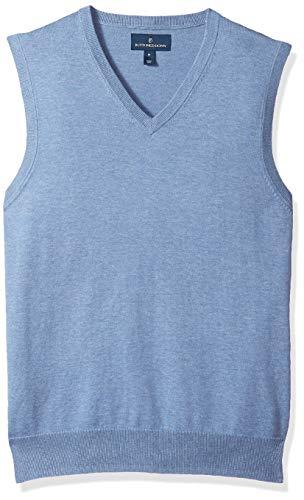 Buttoned Down Supima - Chaleco de algodón Ligero para Hombre, Azul, Large