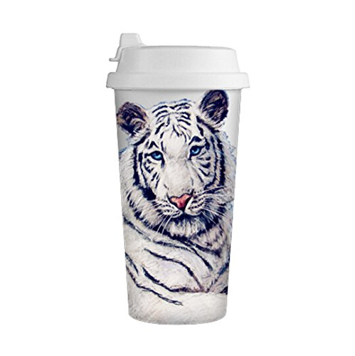 Lovely Animal Made for White Double Wall Travel Coffee Milk Mug Cup 500ML