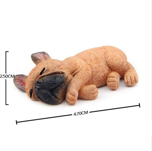 2'' Resin French Bulldog Figurine Cute Small Lying