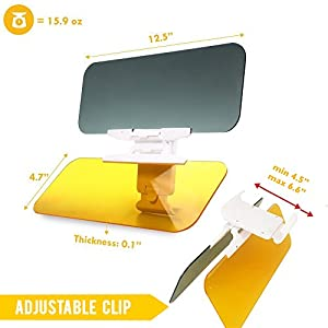My HD Visor | Ultimate Universal Anti Glare Sun Shield and Night Car Safety Visor | Absolutely Protects from the Sun Headlights | Flexible Adjustable Rotation | Premium Acrylic | 699