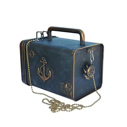 - UMBRELLALABORATORY Steampunk Handmade Nautical Gothic Lolita Purse Pirate Victorian (Handmade) Bronze