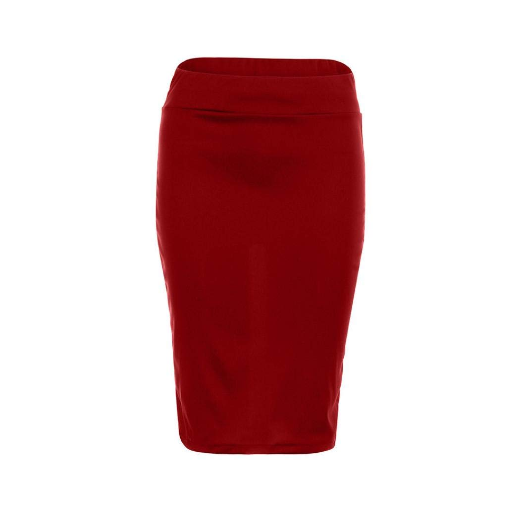 iYYVV Women High Waist Skinny Stretchy Bodycon Knee-Length Pencil Office Hip Skirt by iYYVV (Image #3)