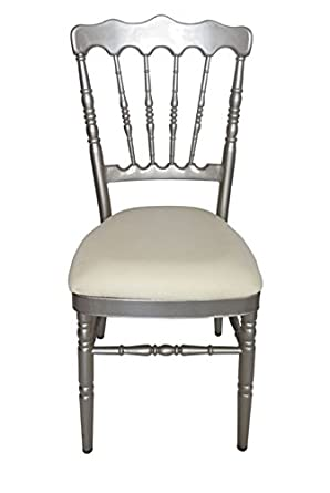 Esstischstuhl Weiß barock stuhl esstischstuhl metall silber weiss amazon de gewerbe