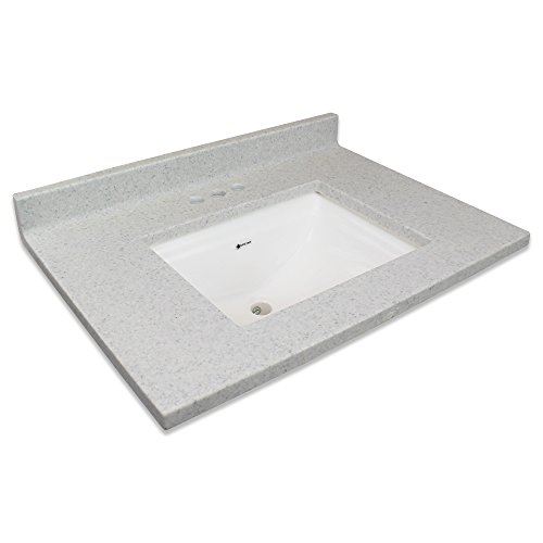 Transolid Charlotte2237-FWB Charlotte Cultured Marble 4-in Centerset Single-Bowl Vanity Top, 37
