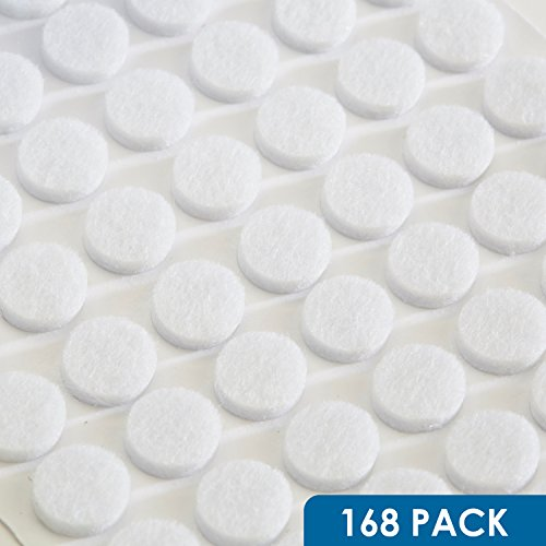 Rok Hardware Heavy Duty Self-Adhesive Felt Pad Bumpers 3/8  Diameter 1/8  Height Round White Pack of 175 - ROKFELTP38WHT  sc 1 st  Amazon.com & Felt Pads for Cabinet Doors: Amazon.com