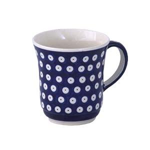 Boleslawiec Pottery Mug, 0.3 L, Original Bunzlauer Keramik, Decor 42