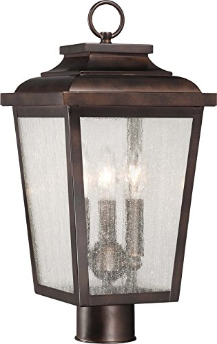 Minka Lavery 72176-189 Irvington Manor Outdoor Post Lights Aluminum Exterior Post Lantern, 3-Light, 180 Watts, Bronze (9