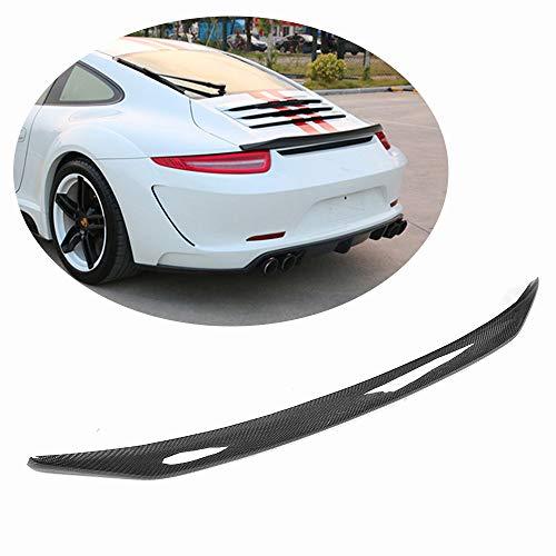 (MCARCAR KIT Fits Porsche 911 991 2012 2013 2014 2015 Carbon Fiber V Look Highkick Rear Trunk Spoiler Wing)