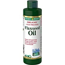 Nature's Bounty Organic Cold Pressed Flaxseed Oil 8 ounce