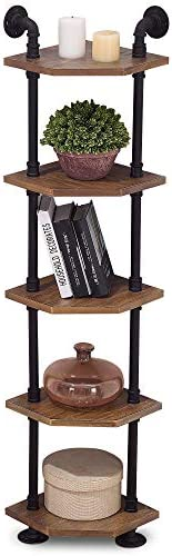 Best modern bookcase: Ivinta Industrial Wall Mount Pipe Shelves