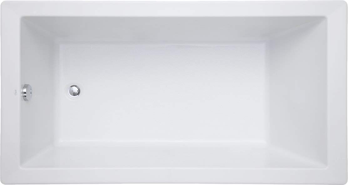 Mirabelle MIRSKS6032WH Sitka 60 X 32 Acrylic Soaking Bathtub for Drop In or Undermount Installations with Reversible Drain