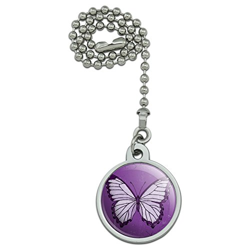 Fan Ceiling Butterfly Pull (GRAPHICS & MORE Butterfly Artsy Purple Ceiling Fan and Light Pull Chain)