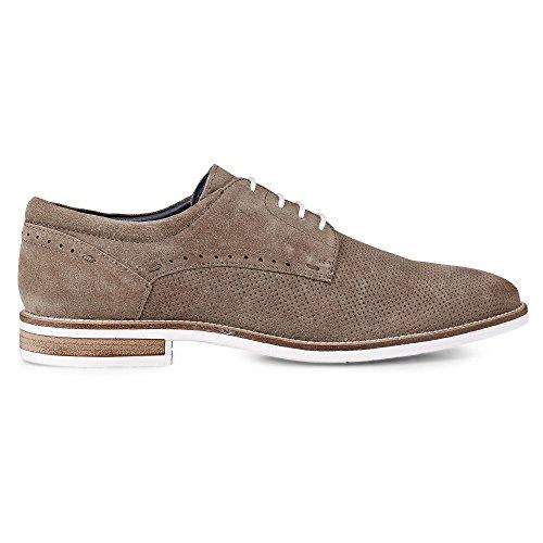 Cox Freizeit-Schnürer, Braune Leder Schuhe IM Business-Stil braun-dunkel