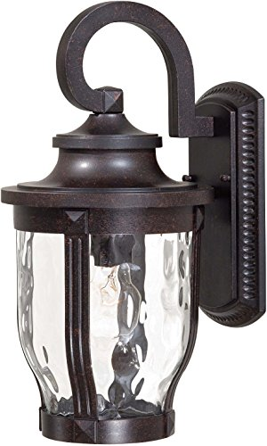 Minka Lavery Outdoor Wall Light 8762-166 Merrimack Aluminum Exterior Wall Lantern, 100 Watts, Bronze