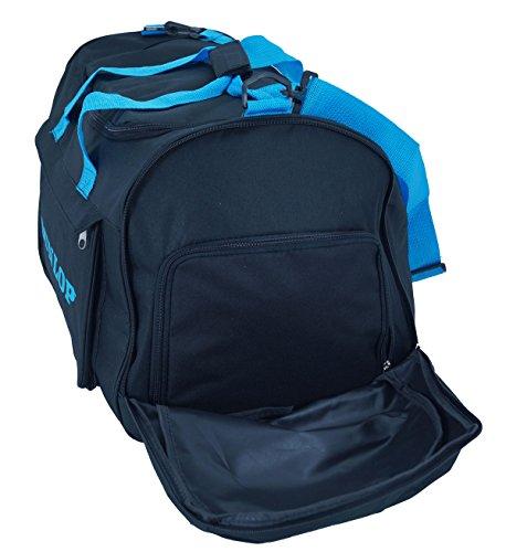 Bolsa de deporte Dunlop bolsa de viaje Fitness Entrenamiento de Fútbol Color Azul Amarillo 60cm FA. bowatex