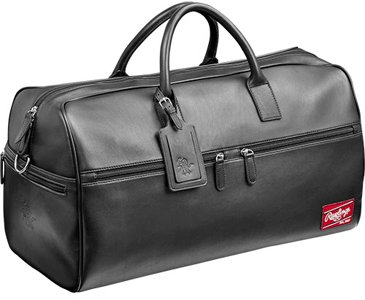 Briefcase Baseball Leather (Rawlings Heart of the Hide Duffel Bag, Large, Black)