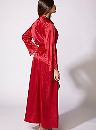 BouxAvenue Women s Frances Satin Robe UK 12 14 Red  Boux Avenue ... 91a6b3e6f