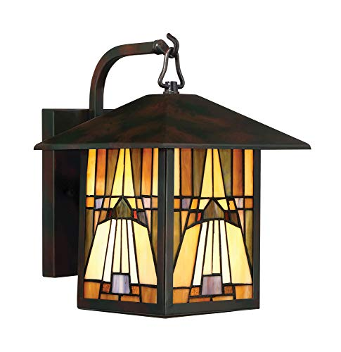 (Quoizel TFIK8409VA Inglenook Mission Outdoor Wall Sconce, 1-Light, 100 Watts, Valiant Bronze (12