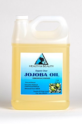 (Jojoba Oil Clear Organic Carrier Cold Pressed Refined 100% Pure 128 oz, 7 LB, 1 gal)