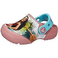 Crocs Infantil Clog FunLab Disney Moana, Rosa, Tamanho 24 BRA