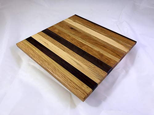 Cheese board platter Charcuterie board #110 with Cherry, White Oak, Red Oak, Walnut and Others