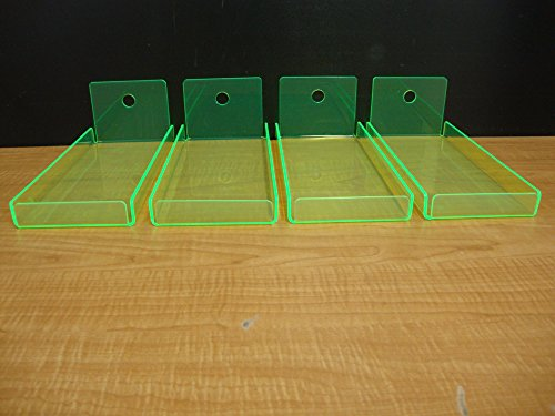 4 Green Neon Acrylic Trays Bread Donut Bagels Cookie Cupc...