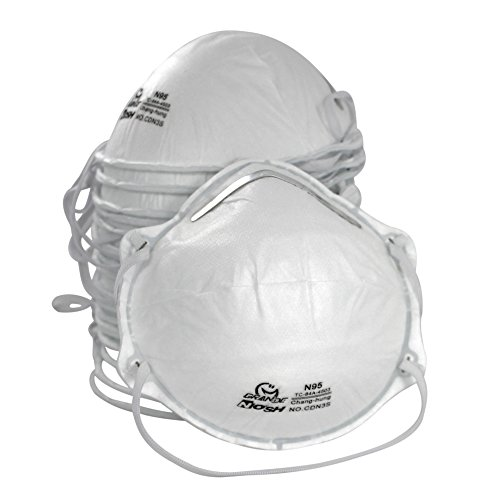 AMSTON Dust Masks, N95 NIOSH-Certified (Box of 20) Personal Protective Equipment / PPE Particulate Respirators for Construction, Home Improvement, DIY Projects (Woodworking Ventilator compare prices)