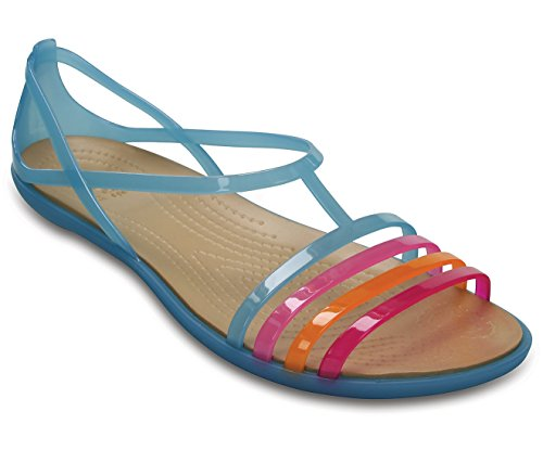 Crocs Kvinnor Isabella W Gelé Sandal, Storlek: 11 B (m) Us Kvinnor, Färg Elektriska Blått / Guld