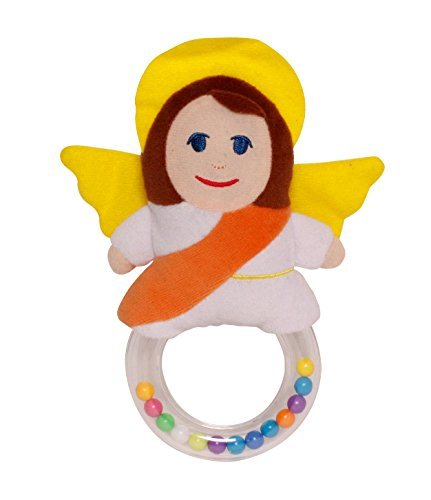 Heart Baby Rattle - Sacred Heart Toys MY GUARDIAN ANGEL PLUSH BABY RATTLE