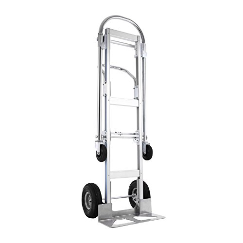 2in 1 Hand Truck - SHZOND Aluminum Hand Truck 2 in 1 Convertible Hand Truck 770 LBS Capacity Hand Truck and Dolly Utility Cart