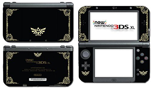 Nintendo Ds Vinyl Skin - Legend of Zelda Majora's Mask Special Limited Edition Black Gold Video Game Vinyl Decal Skin Sticker Cover for the New Nintendo 3DS XL LL 2015 System Console Protector