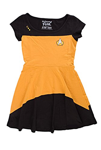 Star Trek Next Generation Costume Shirt (Star Trek The Next Generation Juniors Gold Costume Dress | S)