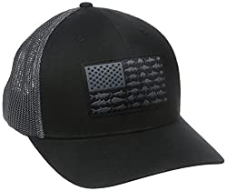 Columbia Men's Pfg Mesh Ball Cap, Smallmedium, Blackfish Flag