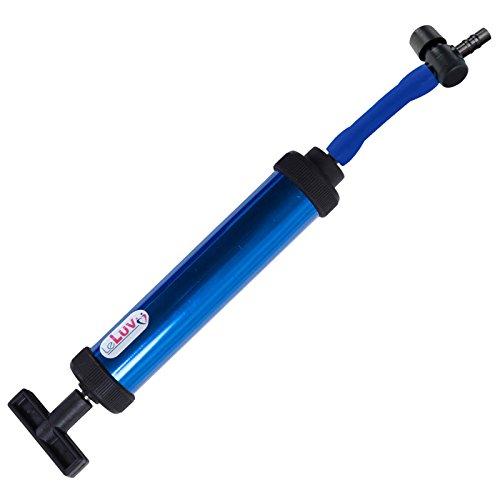 (Vacuum Pump Handle LeLuv Aero Blue with Quick-Release Barbed Valve)