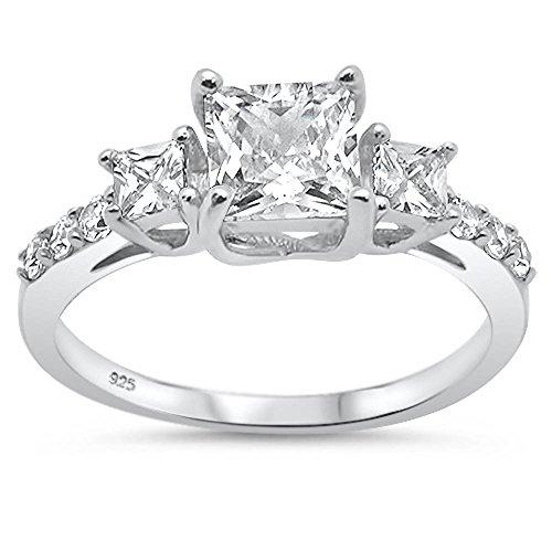 three stone engagement ring - 7