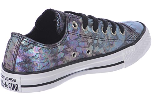 0 Blk purple W All Converse Leather Chaussures Star Oil Slick 7 v8aUOaq