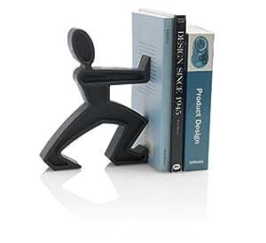Black + Blum James The Bookend - Separador de libros con forma de muñeco, color negro