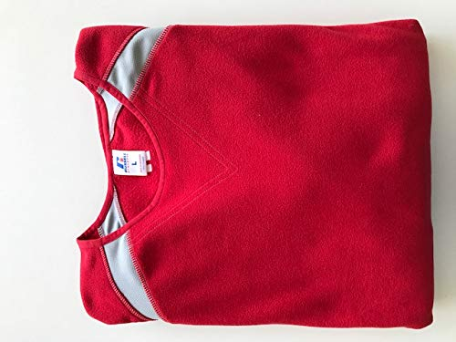 Russell Athletic Baseball Fleece Pullover Sweater - ROT Grau - Large