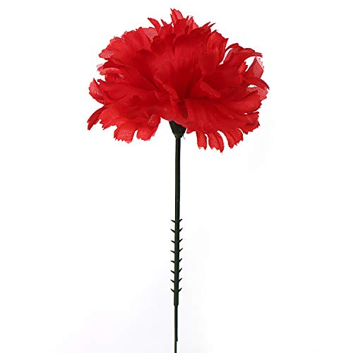 Amazoncom Larksilk Red 5 Silk Artificial Carnation Flowers 100
