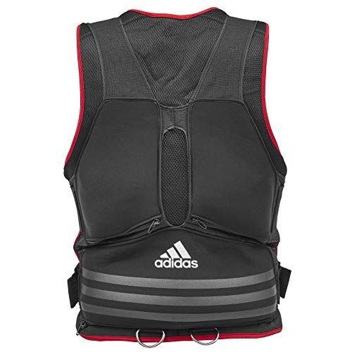 cf419f1583bf02 adidas Weighted Vest - Black/Red: Amazon.co.uk: Sports & Outdoors