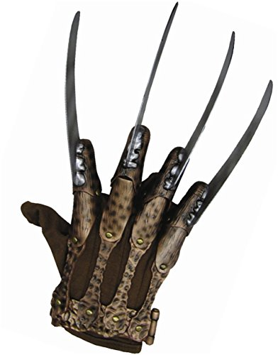 Nightmare On Elm Street Deluxe Freddy Krueger Glove, Gray, One Size (Fredy Cruger)