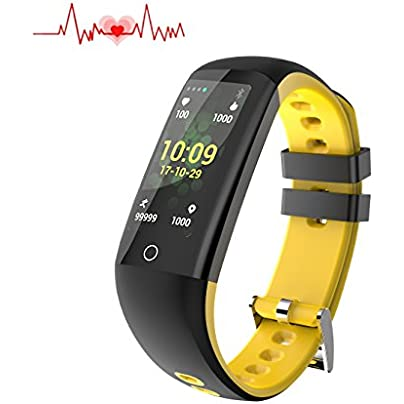 Fitness health Tracker with Color Screen smart Watch Heart Rate Monitor Calorie Step Counter Blood Pressure Sleep Monitor IP67 Waterproof Activity Tracker sport Bracelet Wristband for IOS Android Estimated Price £28.99 -