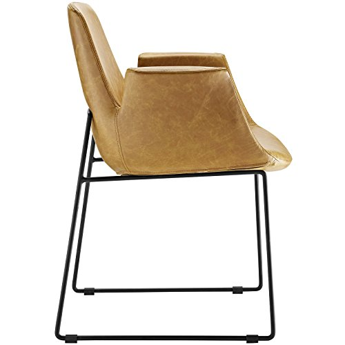 Modway EEI-1806-TAN Aloft Mid-Century Modern Leather, Dining Armchair, Tan by Modway (Image #3)